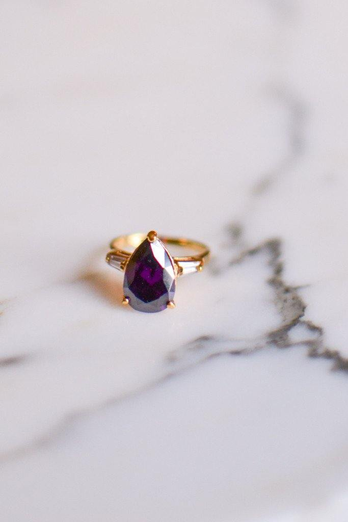 Amethyst CZ Statement Ring - Vintage Meet Modern  - 1