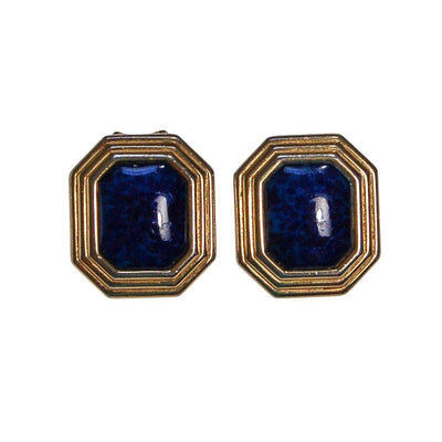 Vintage Christian Dior Gold and Blue Earrings by Christian Dior - Vintage Meet Modern Vintage Jewelry - Chicago, Illinois - #oldhollywoodglamour #vintagemeetmodern #designervintage #jewelrybox #antiquejewelry #vintagejewelry