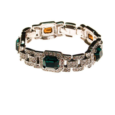 The Great Gatsby Bracelet with Emerald Crystals By Ciner New York by Ciner - Vintage Meet Modern - Chicago, Illinois