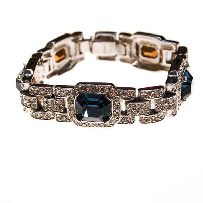 The Great Gatsby Bracelet with Sapphire Crystals By Ciner New York by Ciner - Vintage Meet Modern - Chicago, Illinois