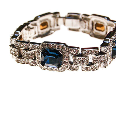 The Great Gatsby Bracelet with Sapphire Crystals By Ciner New York by Ciner - Vintage Meet Modern Vintage Jewelry - Chicago, Illinois - #oldhollywoodglamour #vintagemeetmodern #designervintage #jewelrybox #antiquejewelry #vintagejewelry