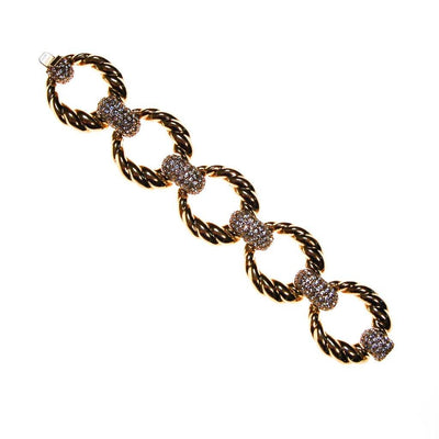 Ciner NY Gold Link and Pave Crystal Bracelet, Bracelet - Vintage Meet Modern