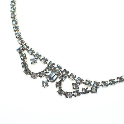 Vintage Rhinestone Bib Necklace by 1950s - Vintage Meet Modern - Chicago, Illinois