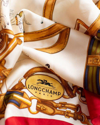 Longchamp Paris Circus Horse and Buckle Silk Scarf by Longchamp - Vintage Meet Modern - Chicago, Illinois