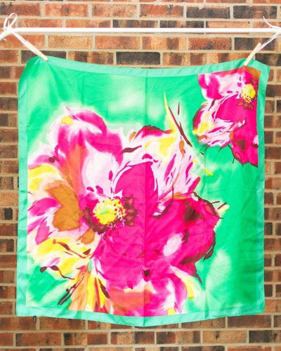 Beautiful Square Vintage Floral Scarf
