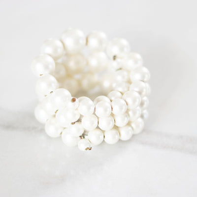 Vintage 1950s Pearl Coil Bracelet by Unsigned Beauty - Vintage Meet Modern Vintage Jewelry - Chicago, Illinois - #oldhollywoodglamour #vintagemeetmodern #designervintage #jewelrybox #antiquejewelry #vintagejewelry