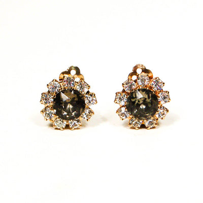 Bogoff Rhinestone Earrings by Bogoff - Vintage Meet Modern - Chicago, Illinois