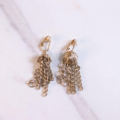 Vintage Sarah Coventry Gold Chain Tassel Earrings by Sarah Coventry - Vintage Meet Modern Vintage Jewelry - Chicago, Illinois - #oldhollywoodglamour #vintagemeetmodern #designervintage #jewelrybox #antiquejewelry #vintagejewelry