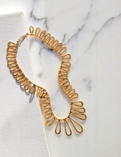 Goddess Loop Collar Necklace by Napier by Napier - Vintage Meet Modern Vintage Jewelry - Chicago, Illinois - #oldhollywoodglamour #vintagemeetmodern #designervintage #jewelrybox #antiquejewelry #vintagejewelry