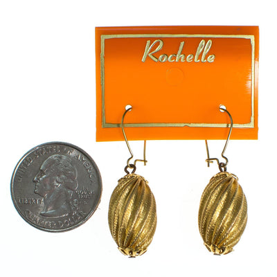 Gold Rochelle Fluted Bead Earrings by Vintage Meet Modern  - Vintage Meet Modern - Chicago, Illinois