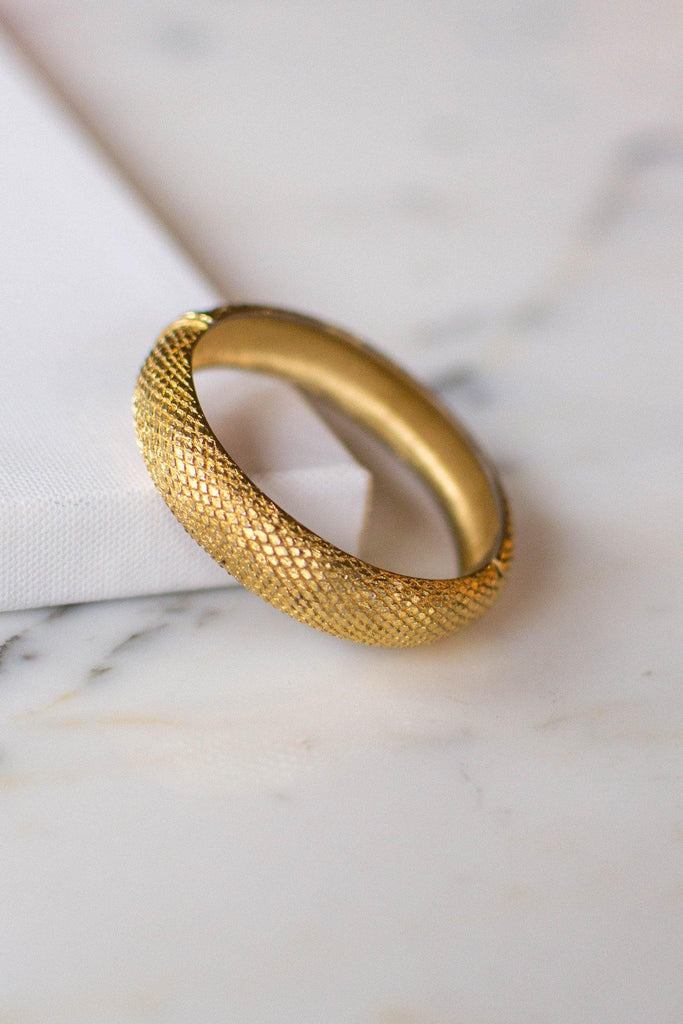 Gold Monet Scale Bangle Bracelet