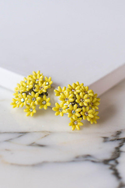 Huge Yellow Daisy Earrings by Coro by Coro - Vintage Meet Modern Vintage Jewelry - Chicago, Illinois - #oldhollywoodglamour #vintagemeetmodern #designervintage #jewelrybox #antiquejewelry #vintagejewelry