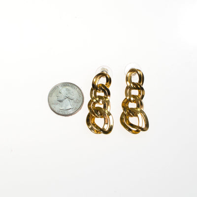 Vintage Monet Gold Chain Drop Earrings by Monet - Vintage Meet Modern Vintage Jewelry - Chicago, Illinois - #oldhollywoodglamour #vintagemeetmodern #designervintage #jewelrybox #antiquejewelry #vintagejewelry