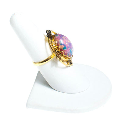 Vintage Czech Opaline Statement Ring, Ring - Vintage Meet Modern