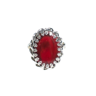 Vintage ART Mode Faux Red Coral Adjustable Ring by Art Mode - Vintage Meet Modern Vintage Jewelry - Chicago, Illinois - #oldhollywoodglamour #vintagemeetmodern #designervintage #jewelrybox #antiquejewelry #vintagejewelry