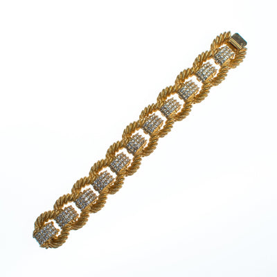 Ciner Essential Love Links Bracelet in Gold, bracelet - Vintage Meet Modern