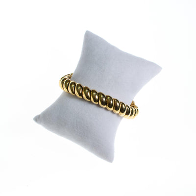 Ciner Gold Roller Bracelet by Ciner - Vintage Meet Modern - Chicago, Illinois
