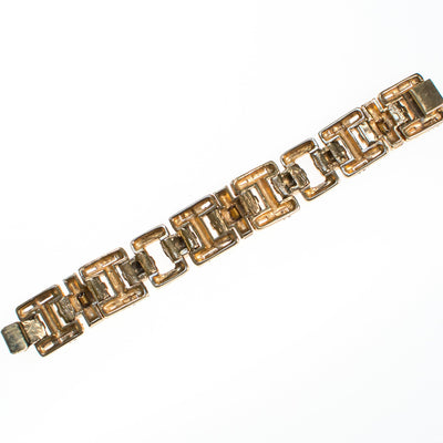 Ciner No Escape Bracelet with Black Diamond, Crystal Velvet, and Colorado Topaz Rhinestones in Gold by Ciner - Vintage Meet Modern - Chicago, Illinois