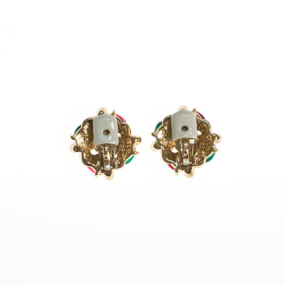 Ciner NY Petite Mogul Earrings in Emerald, Ruby, and Sapphire by Ciner - Vintage Meet Modern - Chicago, Illinois
