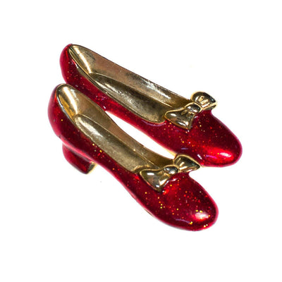 Vintage Wizard of Oz Ruby Red Dorothy Slippers Brooch