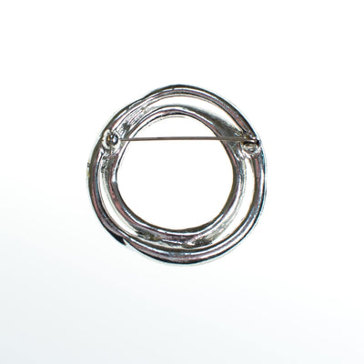 Vintage Art Deco Baguette and Brilliant Cut Circle Brooch