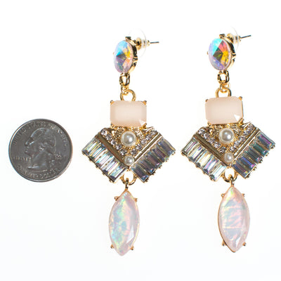 Aurora Art Deco Style Drop Earrings by Vintage Meet Modern  - Vintage Meet Modern Vintage Jewelry - Chicago, Illinois - #oldhollywoodglamour #vintagemeetmodern #designervintage #jewelrybox #antiquejewelry #vintagejewelry