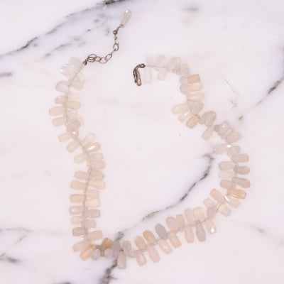 Vintage Genuine Faceted Briolette Quartz Crystal Necklace by Artisan - Vintage Meet Modern - Chicago, Illinois