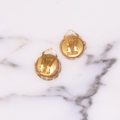 Vintage 1940s Gold Venetian Glass Earrings by Made in Italy - Vintage Meet Modern Vintage Jewelry - Chicago, Illinois - #oldhollywoodglamour #vintagemeetmodern #designervintage #jewelrybox #antiquejewelry #vintagejewelry