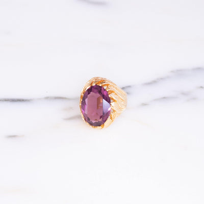 Vintage 1960s Amethyst Crystal Cocktail Statement Ring by 1960s - Vintage Meet Modern - Chicago, Illinois