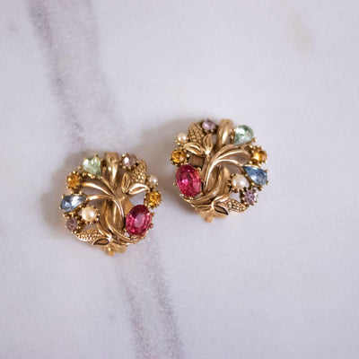Vintage STAR Colorful Pastel Rhinestone Statement Earrings by STAR - Vintage Meet Modern Vintage Jewelry - Chicago, Illinois - #oldhollywoodglamour #vintagemeetmodern #designervintage #jewelrybox #antiquejewelry #vintagejewelry