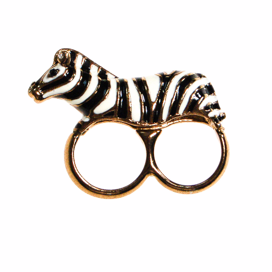 Zebra Statement Ring, Ring - Vintage Meet Modern