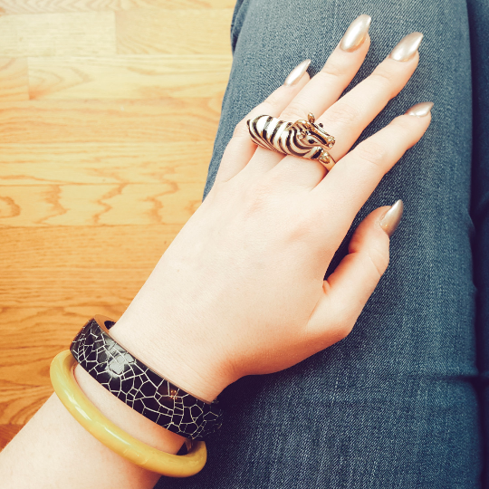 Zebra Statement Ring