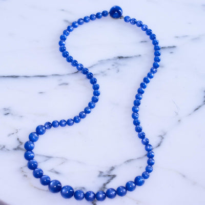 Vintage Blue Moonglow Bead Necklace by Unsigned Beauty - Vintage Meet Modern - Chicago, Illinois