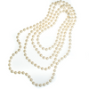 Vintage Opera Length Faux Pearl Necklace - Vintage Meet Modern  vintage.meet.modern.jewelry