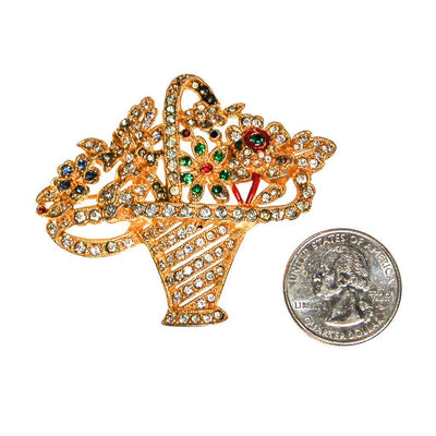 Basket of Flowers Rhinestone Brooch by Unsigned Beauty - Vintage Meet Modern Vintage Jewelry - Chicago, Illinois - #oldhollywoodglamour #vintagemeetmodern #designervintage #jewelrybox #antiquejewelry #vintagejewelry
