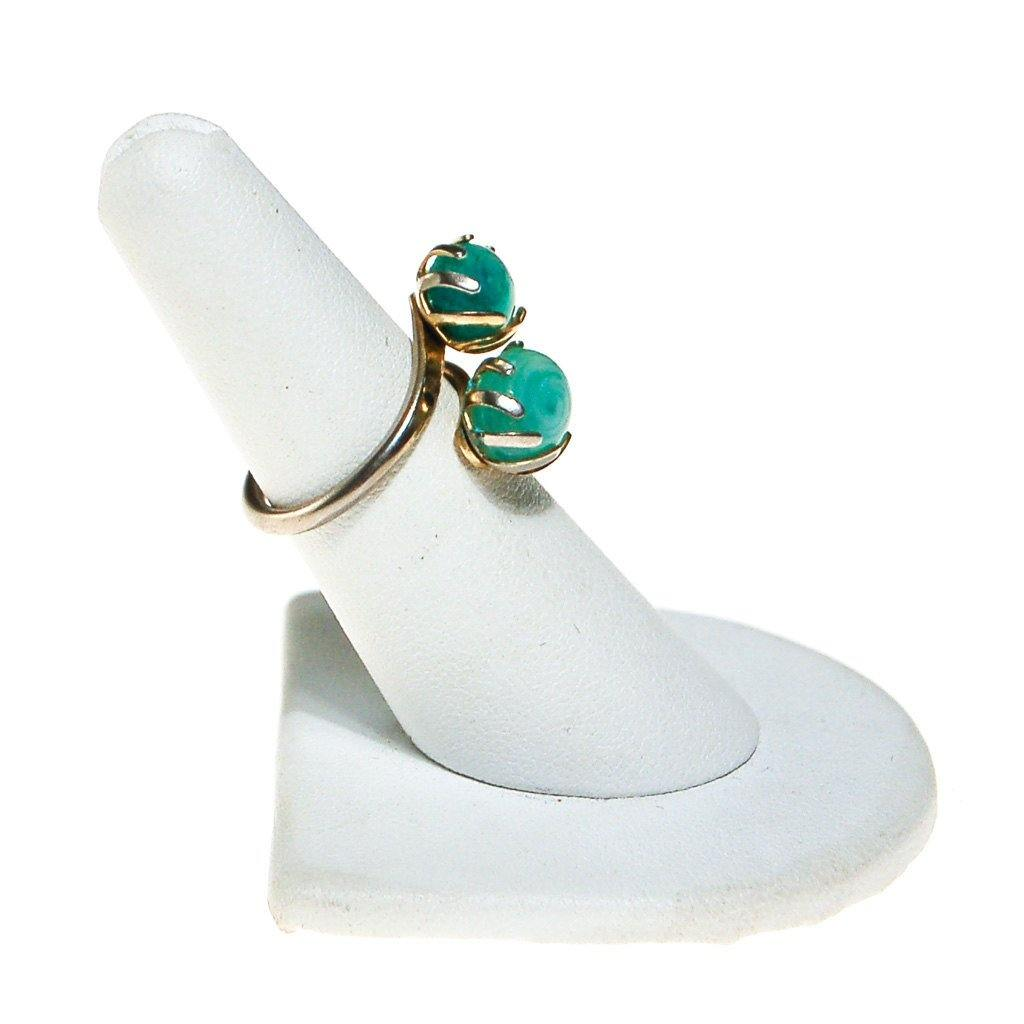 Sarah Coventry Aqua Art Glass Ring - Vintage Meet Modern  - 5