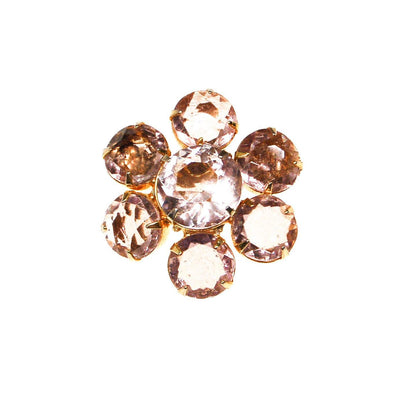Pale Pink Crystal Flower Brooch by Unsigned Beauty - Vintage Meet Modern Vintage Jewelry - Chicago, Illinois - #oldhollywoodglamour #vintagemeetmodern #designervintage #jewelrybox #antiquejewelry #vintagejewelry