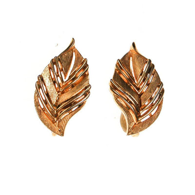 Crown Trifari Gold Leaf Earrings by Crown Trifari - Vintage Meet Modern - Chicago, Illinois