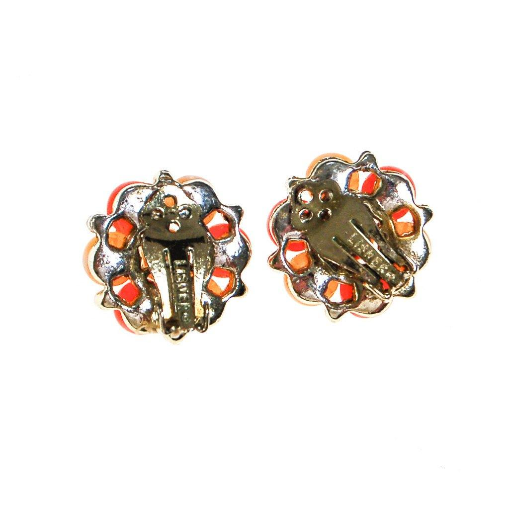 Lisner Peachy Moonglow Beaded Earrings - Vintage Meet Modern  - 4