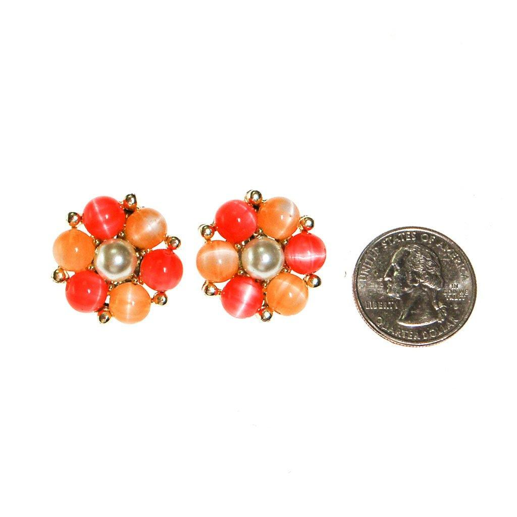 Lisner Peachy Moonglow Beaded Earrings - Vintage Meet Modern  - 3