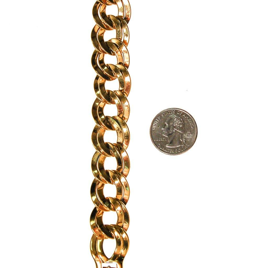 Gold Double Link Chain Bracelet by Monet - Vintage Meet Modern  - 4