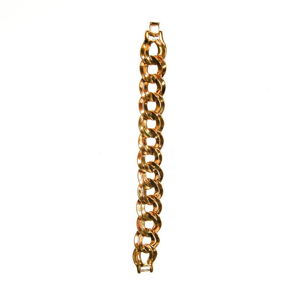 Gold Double Link Chain Bracelet by Monet - Vintage Meet Modern  - 3