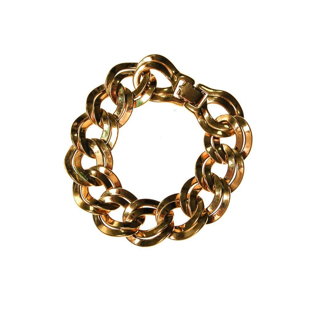 Gold Double Link Chain Bracelet by Monet - Vintage Meet Modern  - 2