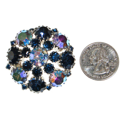 Weiss Sapphire Blue Rhinestone Brooch by Weiss - Vintage Meet Modern - Chicago, Illinois