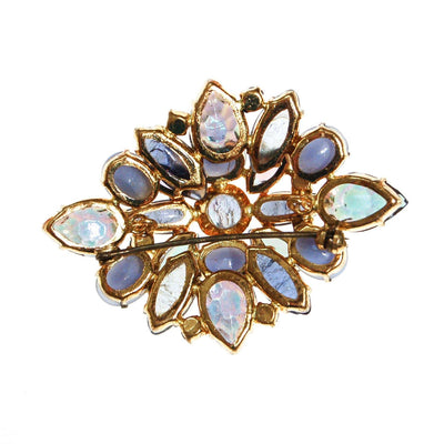 Lavender and Purple Rhinestone Brooch by 1950s - Vintage Meet Modern - Chicago, Illinois