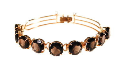 Art Deco Inspired Smokey Quartz Bracelet - {{ vintage.meet.modern.jewelry. }}