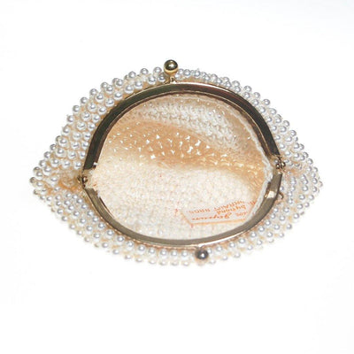 Pearl Coin Purse by Made in Japan - Vintage Meet Modern Vintage Jewelry - Chicago, Illinois - #oldhollywoodglamour #vintagemeetmodern #designervintage #jewelrybox #antiquejewelry #vintagejewelry
