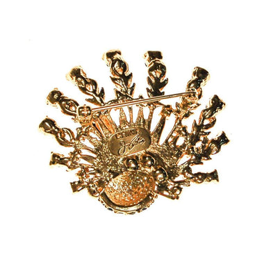 Joan Collins Jeweled Peacock Brooch by Joan Collins - Vintage Meet Modern Vintage Jewelry - Chicago, Illinois - #oldhollywoodglamour #vintagemeetmodern #designervintage #jewelrybox #antiquejewelry #vintagejewelry