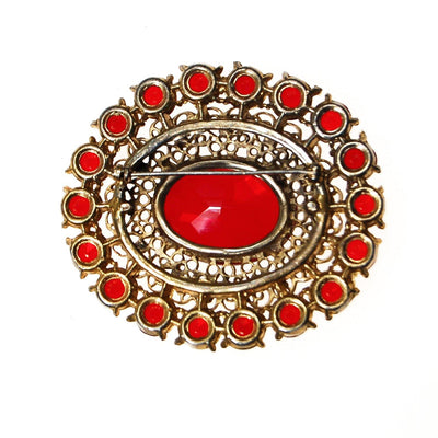 Vintage Czech Red Crystal and Rhinestone Brooch by Czech - Vintage Meet Modern Vintage Jewelry - Chicago, Illinois - #oldhollywoodglamour #vintagemeetmodern #designervintage #jewelrybox #antiquejewelry #vintagejewelry