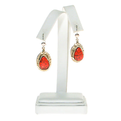 Southwestern Bohemian Chic Red Coral Earrings by ART MODE by ART MODE - Vintage Meet Modern Vintage Jewelry - Chicago, Illinois - #oldhollywoodglamour #vintagemeetmodern #designervintage #jewelrybox #antiquejewelry #vintagejewelry
